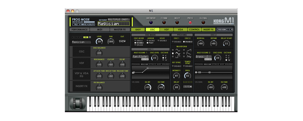Kvr: m1 by korg synth (sample based) vst plugin, audio units.